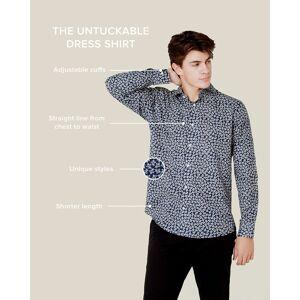 "Alynn ""Brooks Floral Classic Fit Untuckable Dress Shirt by Alynn -  Navy Blue Cotton"""