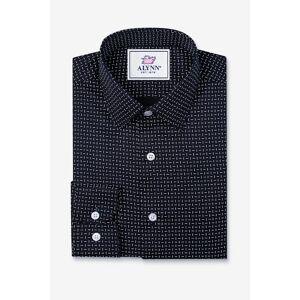"""Alynn """"Finn Classic Fit Untuckable Dress Shirt by Alynn -  Navy Blue Cotton"""""""