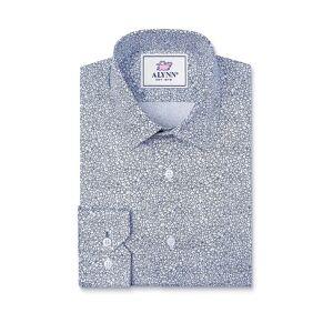"Alynn ""Reid Floral Slim Fit Untuckable Dress Shirt by Alynn -  White Cotton"""