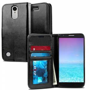 ZV Wallet Pouch LG Aristo 2 / Tribute Dynasty / Fortune 2 Case by ZV