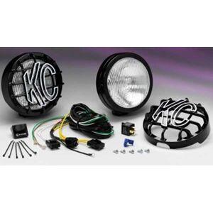"""KC HiLites 6"""" Slimlite Black Fog Light Kit"""