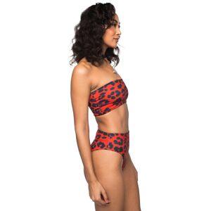 BuddyLove Clothing Label BuddyLove Foxy Bandeau High Waisted Bikini - Fire