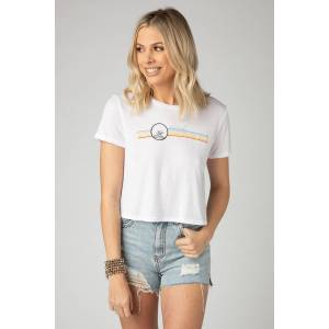 BuddyLove Clothing Label BuddyLove Kliff Cropped Graphic Tee - Vacay Vibes - M White
