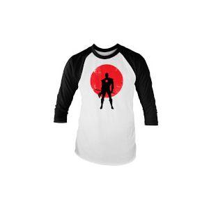 Valiant Comics Classic Bloodshot Silhouette Raglan T-Shirt - White - S - White