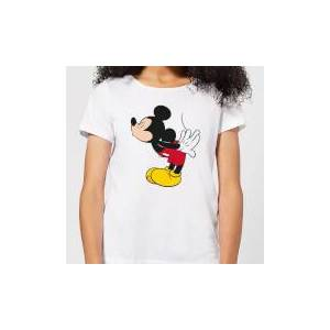 Disney Mickey Mouse Mickey Split Kiss Women's T-Shirt - White - L - White