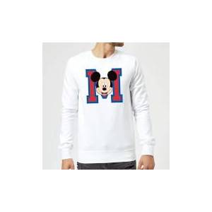 Disney Mickey Mouse M-Face Sweatshirt - White - L - White