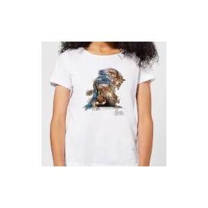 Disney Beauty And The Beast Sketch Women's T-Shirt - White - S - White