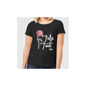 Disney Beauty And The Beast Tale As Old As Time Rose Women's T-Shirt - Black - XL - Black