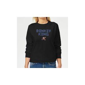 Nintendo Donkey Kong Retro Logo Women's Sweatshirt - Black - XXL - Black