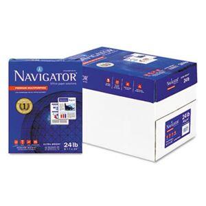 Navigator Premium Multipurpose Paper   99 Brightness   24lb   8-1/2 x 11  White  5000/Carton