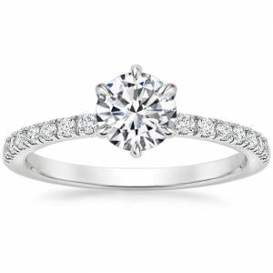 18K White Gold Poppy Diamond Ring (1/6 ct. tw.)