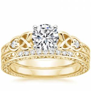 18K Yellow Gold Aberdeen Diamond Bridal Set
