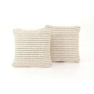 "FranceSon Ari Rope Weave Pillow, Set Of 2-20"""