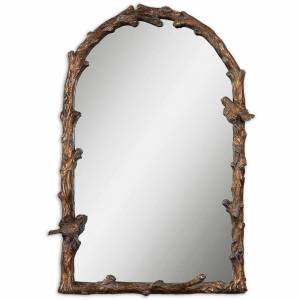 FranceSon Paza Antique Gold Arch Mirror