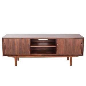 "FranceSon Mid Century Walnut Karon Media Stand - 59"" *free local shipping only*"