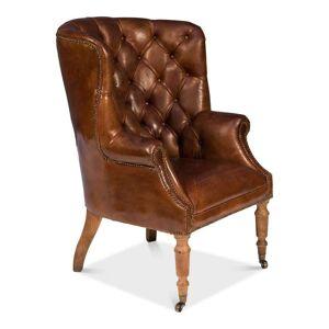 FranceSon Welsh Leather Chair Vintage Cigar