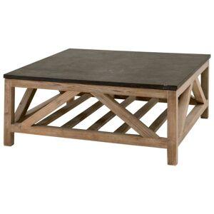 FranceSon Blue Stone Square Coffee Table