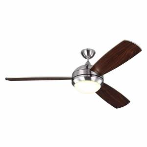 "FranceSon 58"" Discus Trio Max - Brushed Steel Fan"
