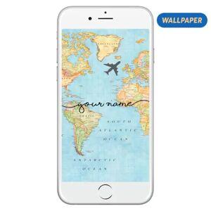 Gocase Wallpaper - World Map Handwritten