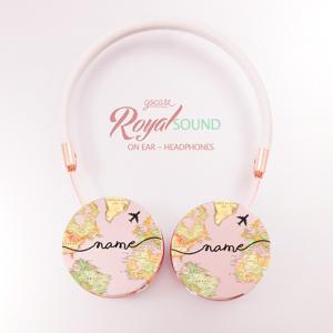 Gocase Royal Sound Headphones - World Map Blank Handwritten