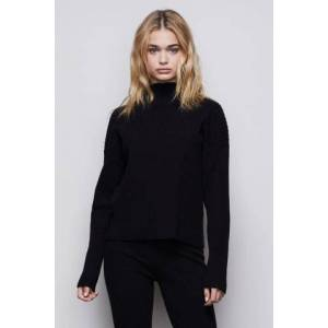 Good American The Go-to Boxy Sweater Black001, Plus Size 7