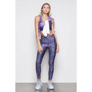 Good American High Waisted The Core Strength Legging Leopard002, Plus Size 7