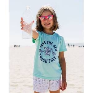 SandCloud Make The Sea Trash Free Recycled Kids Tee