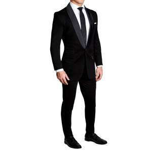 StateLiberty Athletic Fit Stretch Tuxedo - Black with Shawl Lapel (Ships in 4 Weeks)