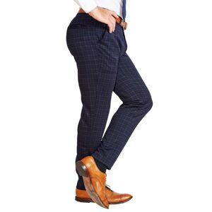 StateLiberty Athletic Fit Stretch Suit Pants - Blue Plaid