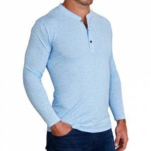 "StateLiberty ""The Brewer"" Light Blue Long Sleeve Henley"