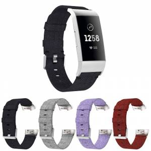 Strapsco Canvas Strap for Fitbit Charge 3 & Charge 4