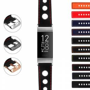 Strapsco Rubber Rally Strap for Fitbit Charge 4 & Charge 3