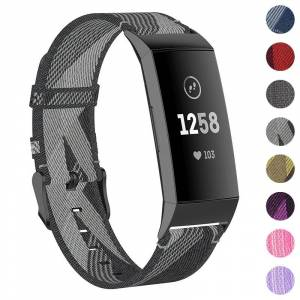 Strapsco Woven Nylon Band for Fitbit Charge 4 & Charge 3