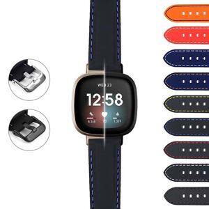 Strapsco Rubber Strap w/ Stitching for Fitbit Sense