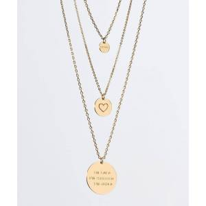 TheGivingKeys Layered Disc Necklace