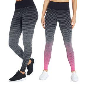 Marika Women's Leggings H. - Heather Charcoal & Pink Dip-Dye Leggings Set - Women
