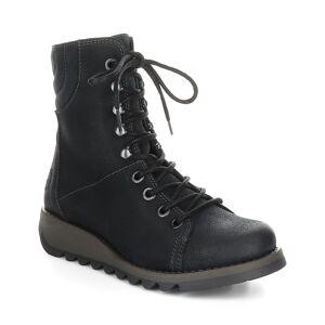 FLY London Women's Casual boots 011 - Dark Petrol Same Combat Boot - Women