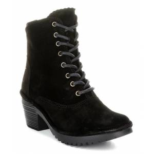 FLY London Women's Casual boots 013 - Black Wune Suede Boot - Women
