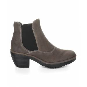 FLY London Women's Casual boots 012 - Gray Wote Suede Boot - Women
