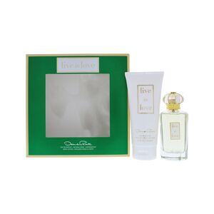 Oscar de la Renta Women's Fragrance Sets 3.4oz - Live In Love 3.4-Oz. Eau de Parfum 2-Pc. Set - Wome
