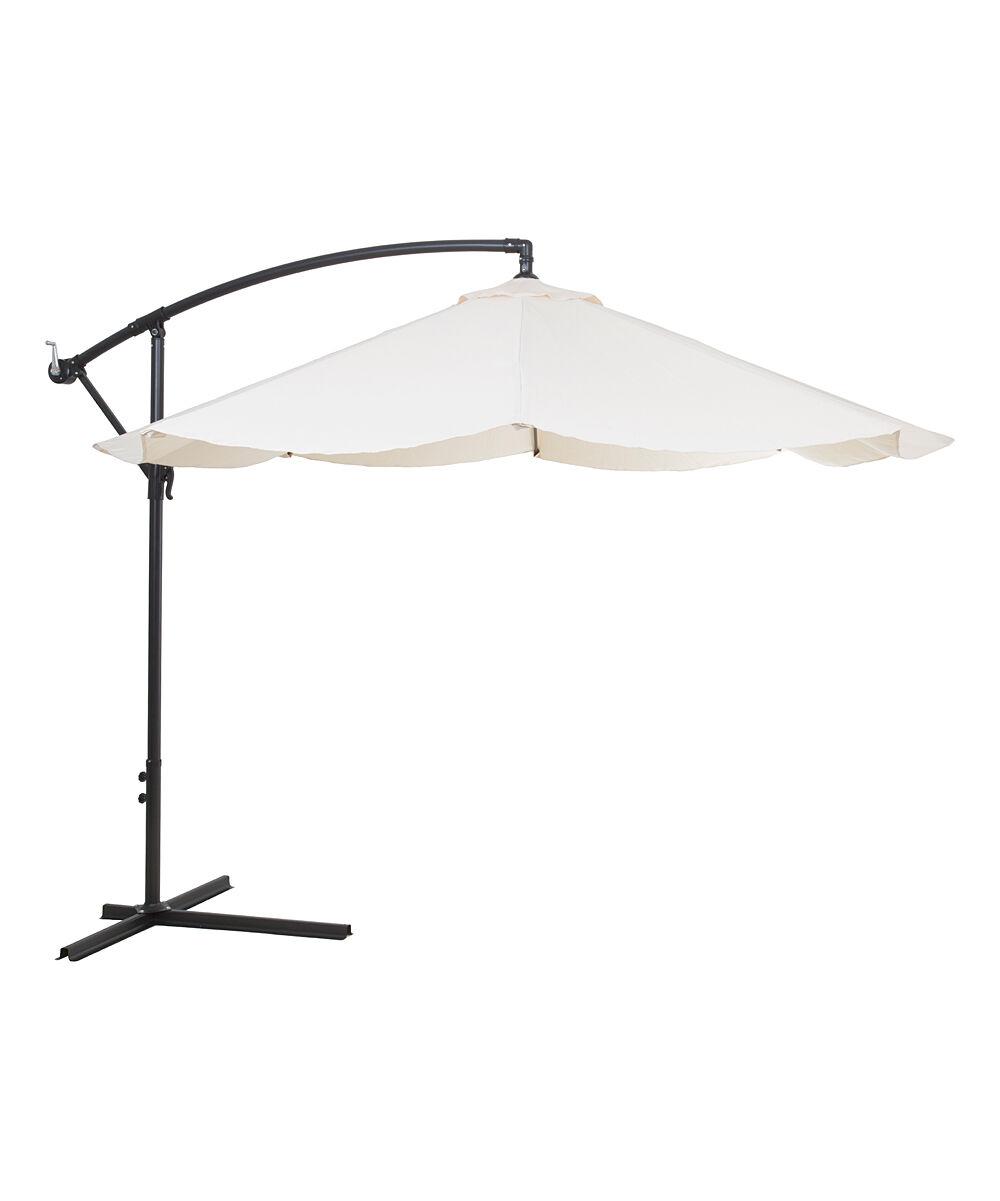 Pure Garden Outdoor Umbrellas Tan - Tan Offset 10' Hanging Patio Umbrella