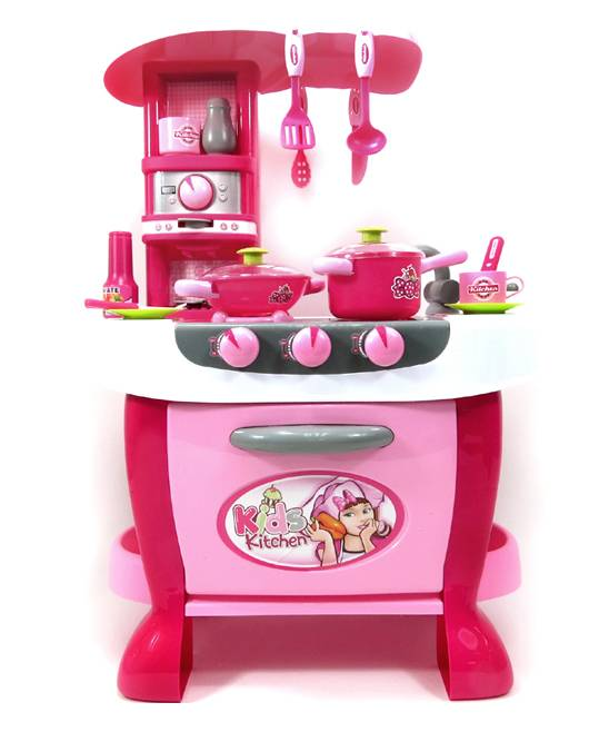 AZ Trading and Import Play Kitchens - Deluxe Kitchen Appliance Cooking Play Set