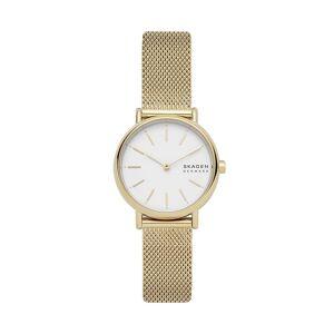 Skagen Unisex Signatur Slim Steel Mesh Watch - Gold