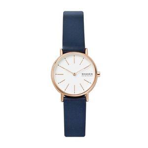 Skagen Unisex Signatur Two-Hand Leather Watch - Blue