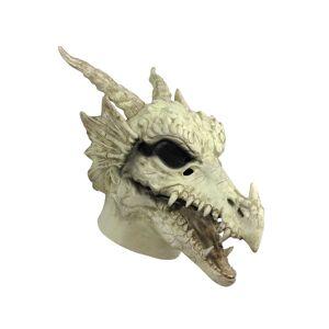 Forum Novelties, Inc Dragon Skull Mask for Adults  - White - Size: One Size