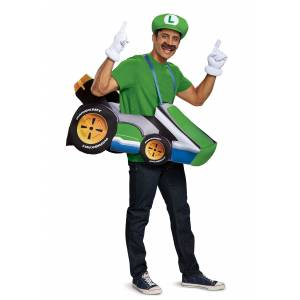 Disguise Super Mario Kart: Luigi Ride In Costume  - Blue/Green - Size: One Size