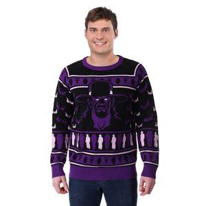 FUN Wear Adult WWE Undertaker Ugly Christmas Sweater  - Black/Purple - Size: Large