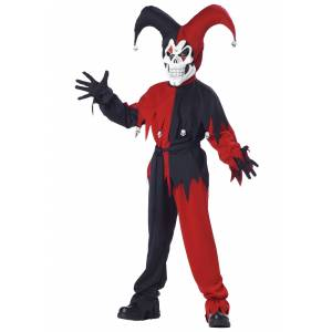 California Costume Collection Evil Jester Costume for Kids
