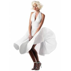 California Costume Collection Marilyn Monroe Costume Dress   Sexy White Costume Dress  - White - Size: Small