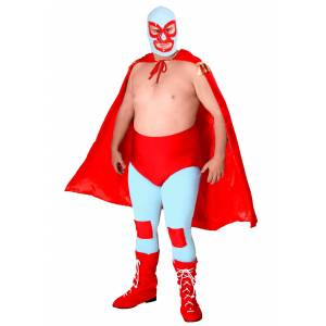 FUN Costumes Nacho Libre Costume for Adults   Wrestling Halloween Costume  - Red/Blue - Size: ST